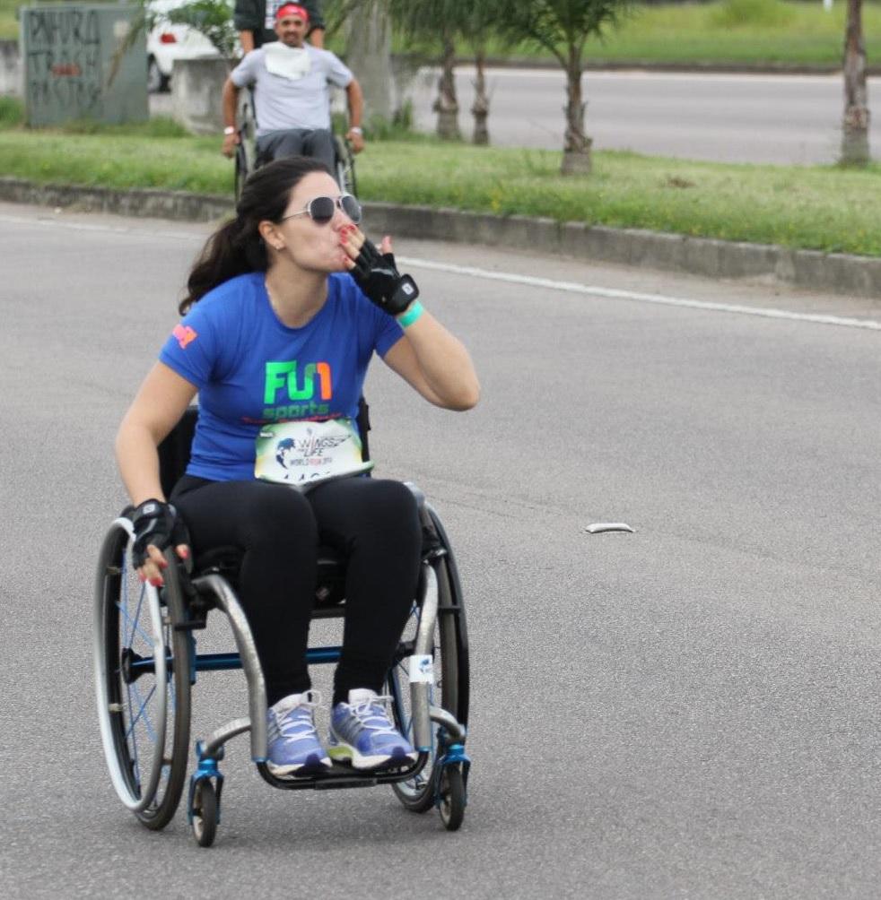Danielle durante uma de suas corridas Crédito: Arquivo Pessoal