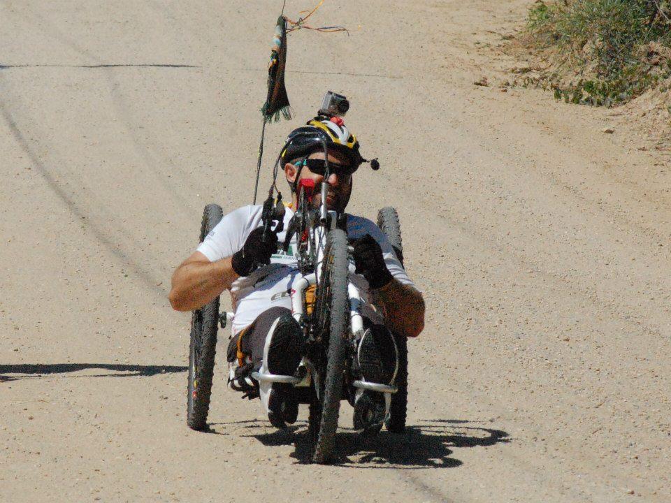 Evandro durante sua expedição pelo caminho de Santiago Crédito: Arquivo Pessoal