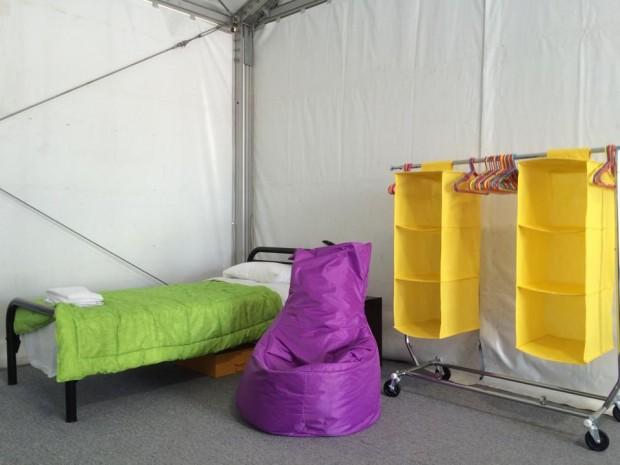 Mobiliários pensados para dar comodidade aos atletas com deficiência